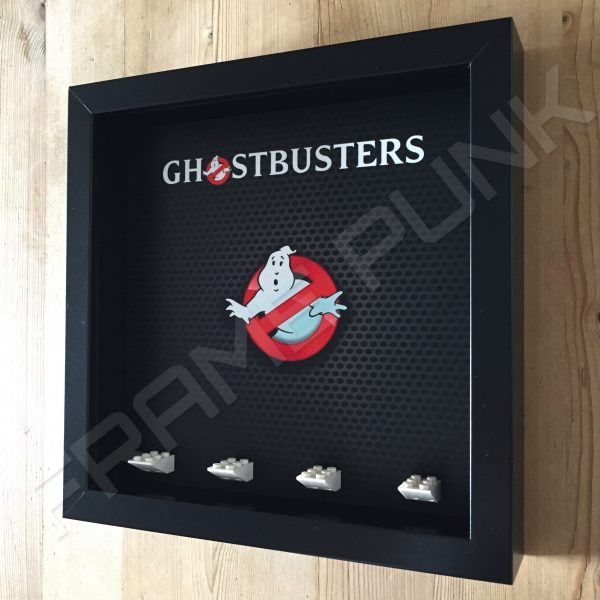 Lego Ghostbusters minifigure display frame Side View