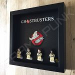 Lego Ghostbusters minifigure display frame with minifigures Side View