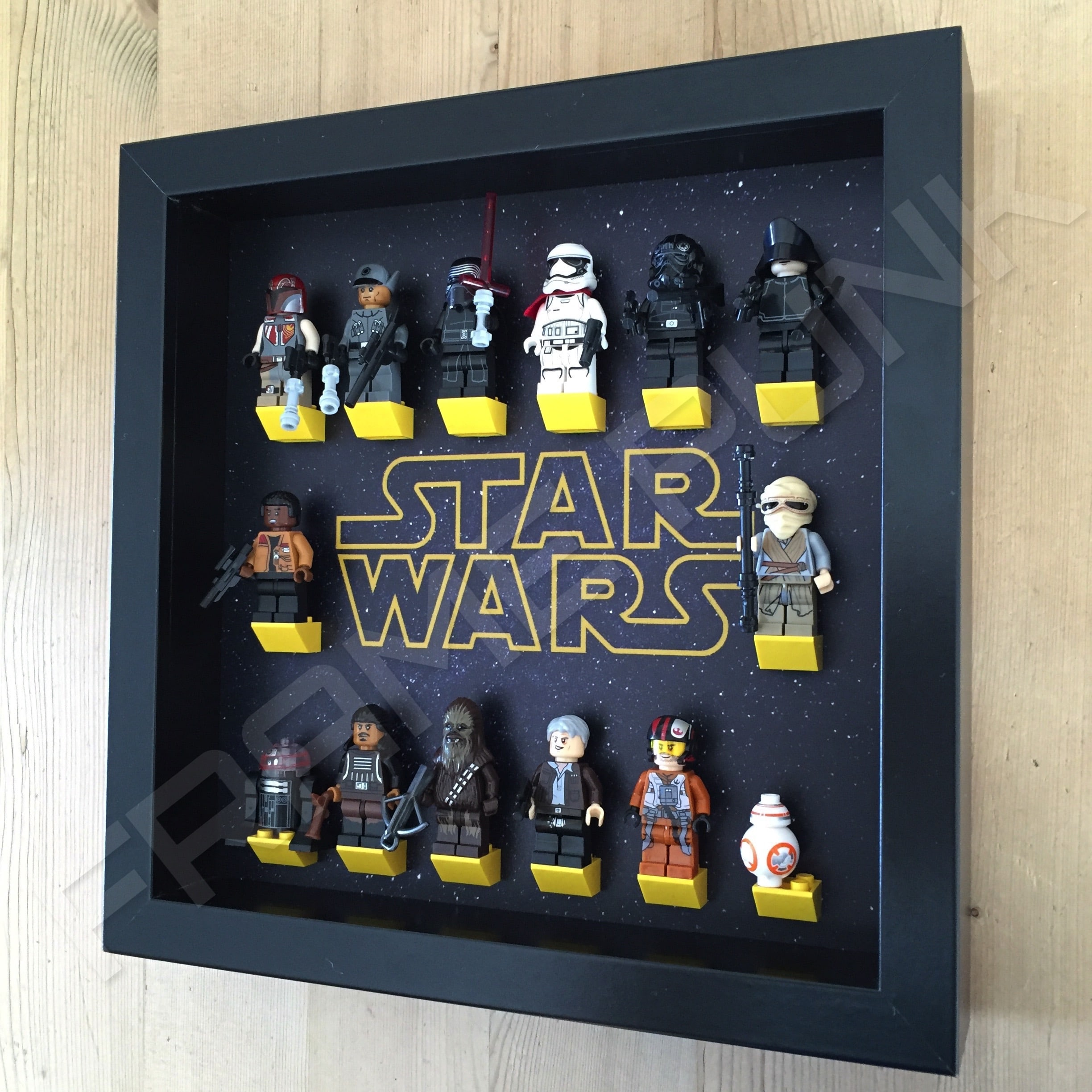 Star Wars Lego Minifigure Display Frame Frame Punk