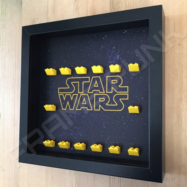 Star Wars Black Frame Minifigure Display Side View