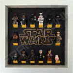 Star Wars White Frame Display With Minifigures