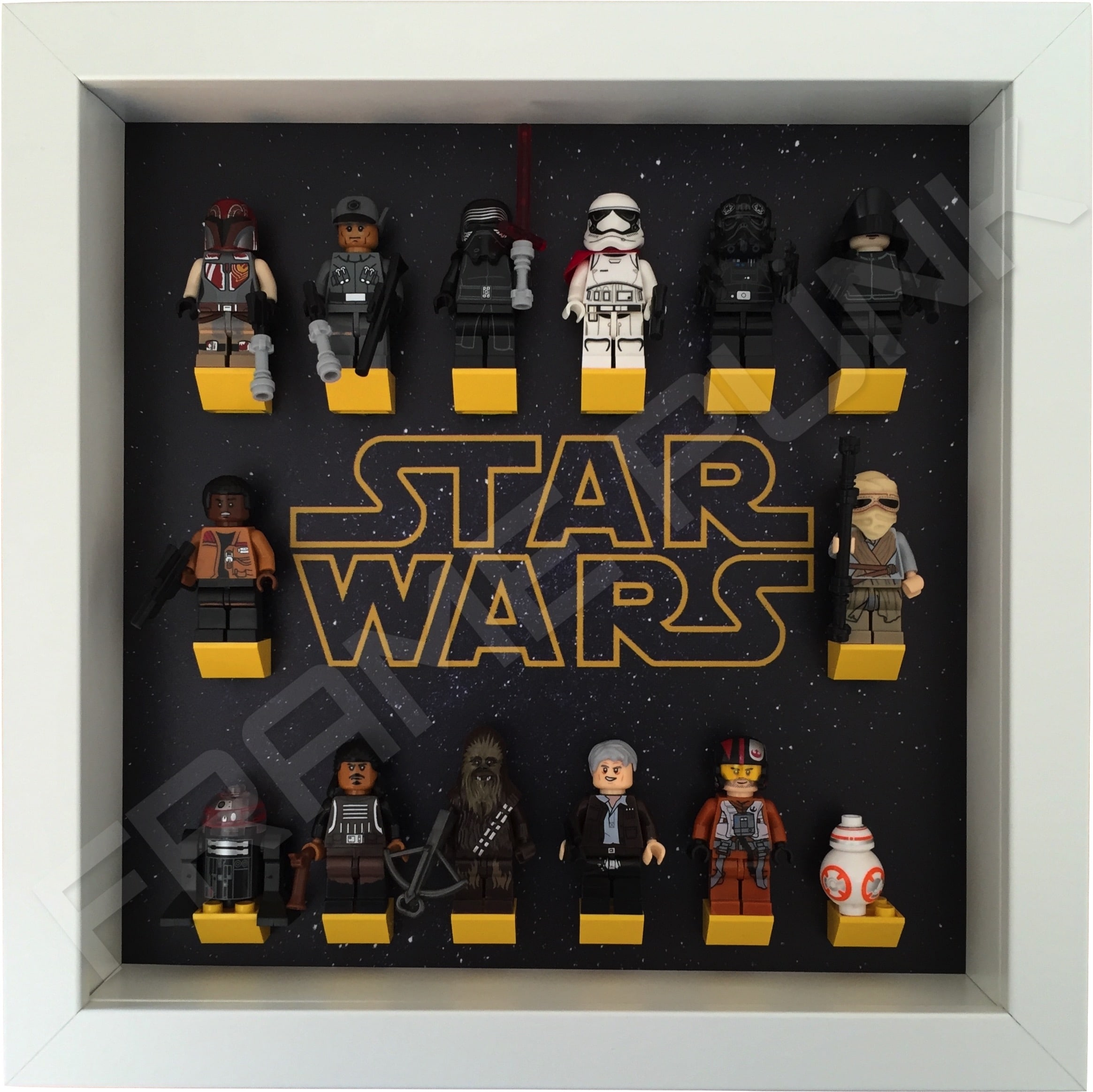 Star Wars Lego Minifigure White Display Frame Frame Punk