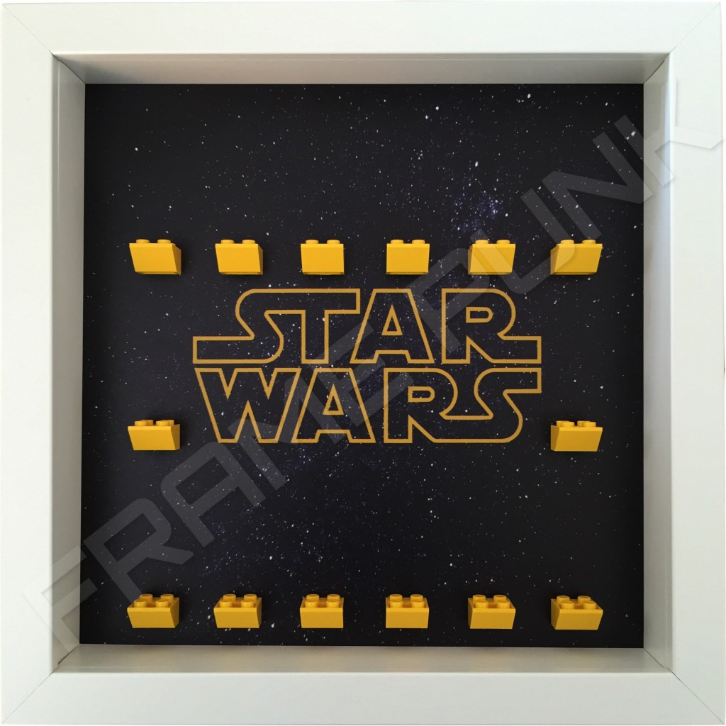 Star Wars Lego Minifigure White Display Frame Frame Punk