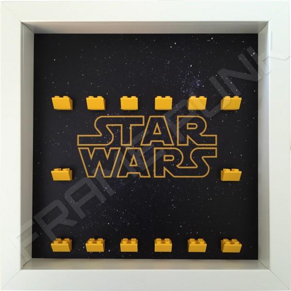 Star Wars White Frame minifigures display