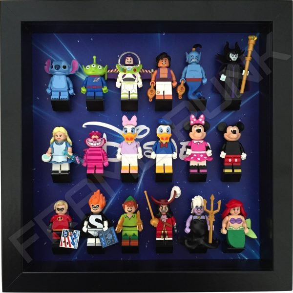 Disney Starry Black Frame Lego Display With Minifigures