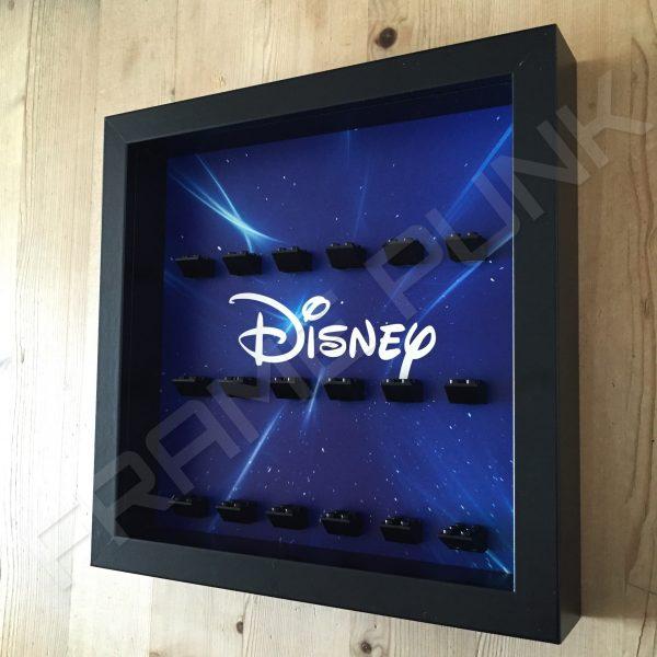 Disney Starry Black Frame Lego Minifigure Display Side View