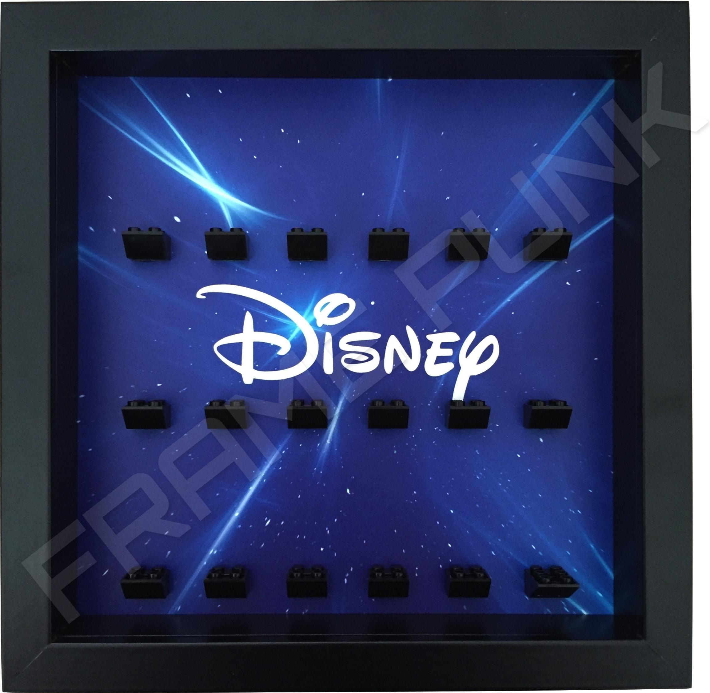 Disney Starry Black Frame Lego minifigures display
