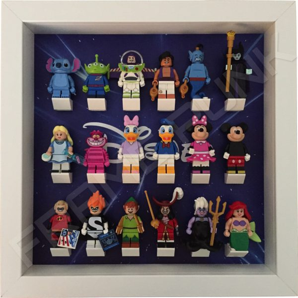 Disney Starry White Frame Lego Display With Minifigures