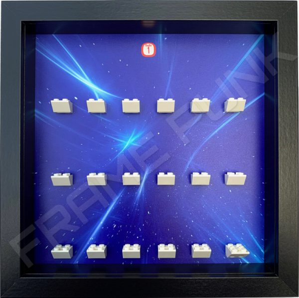 FRAMEPUNK black display frame compatible with LEGO Disney Minifigures Series 1 (Starry)