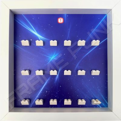FRAMEPUNK white display frame compatible with LEGO Disney Minifigures Series 1 (Starry)