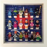I Love Disney White Frame Lego Display With Minifigures