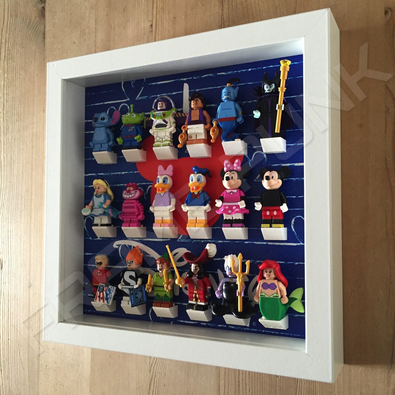 I Love Disney Lego Minifig White Display Frame - Frame Punk