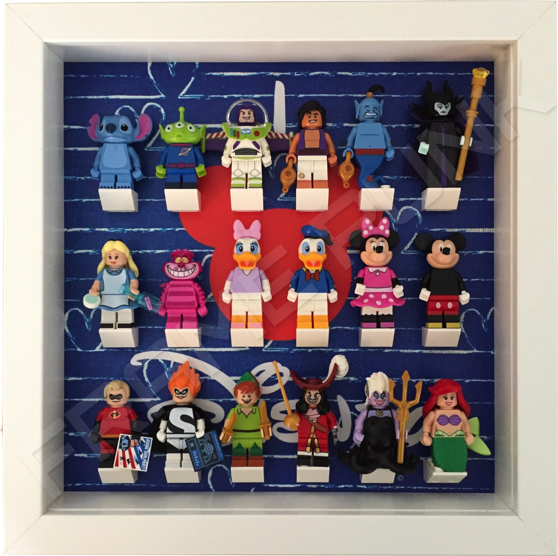 I Love Disney Lego Minifig White Display Frame - Frame Punk