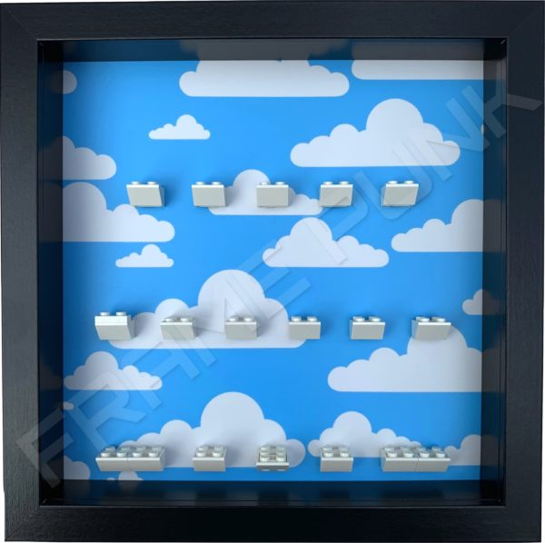 FRAME PUNK display frame compatible with LEGO The Simpsons Minifigures Series 1 & 2 - Clouds (black)