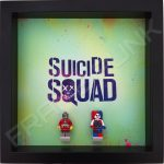 Suicide Squad Black Frame Display With Lego Minifigures
