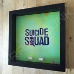 Suicide Squad Black Frame Lego minifigures display Side View
