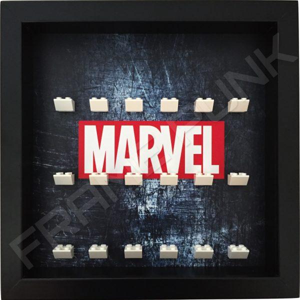 Marvel Steel Black Frame Lego minifigures display