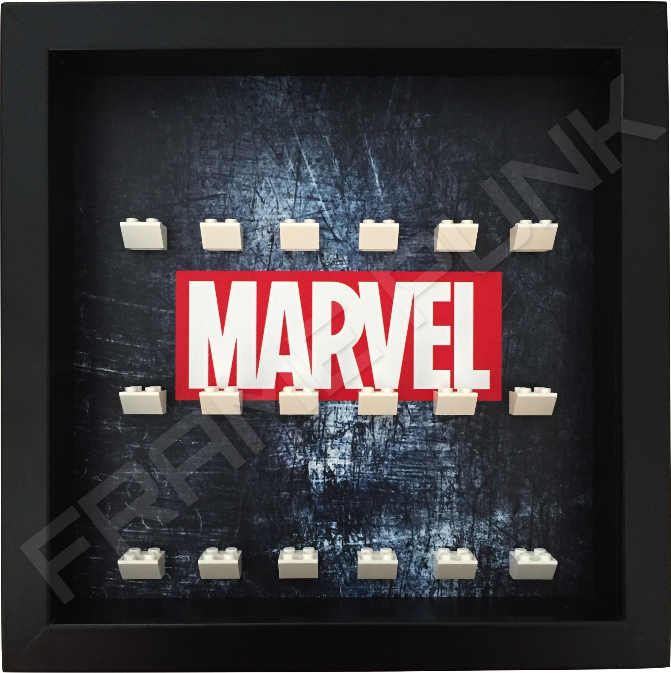 Marvel Steel Black Frame Lego minifigures display