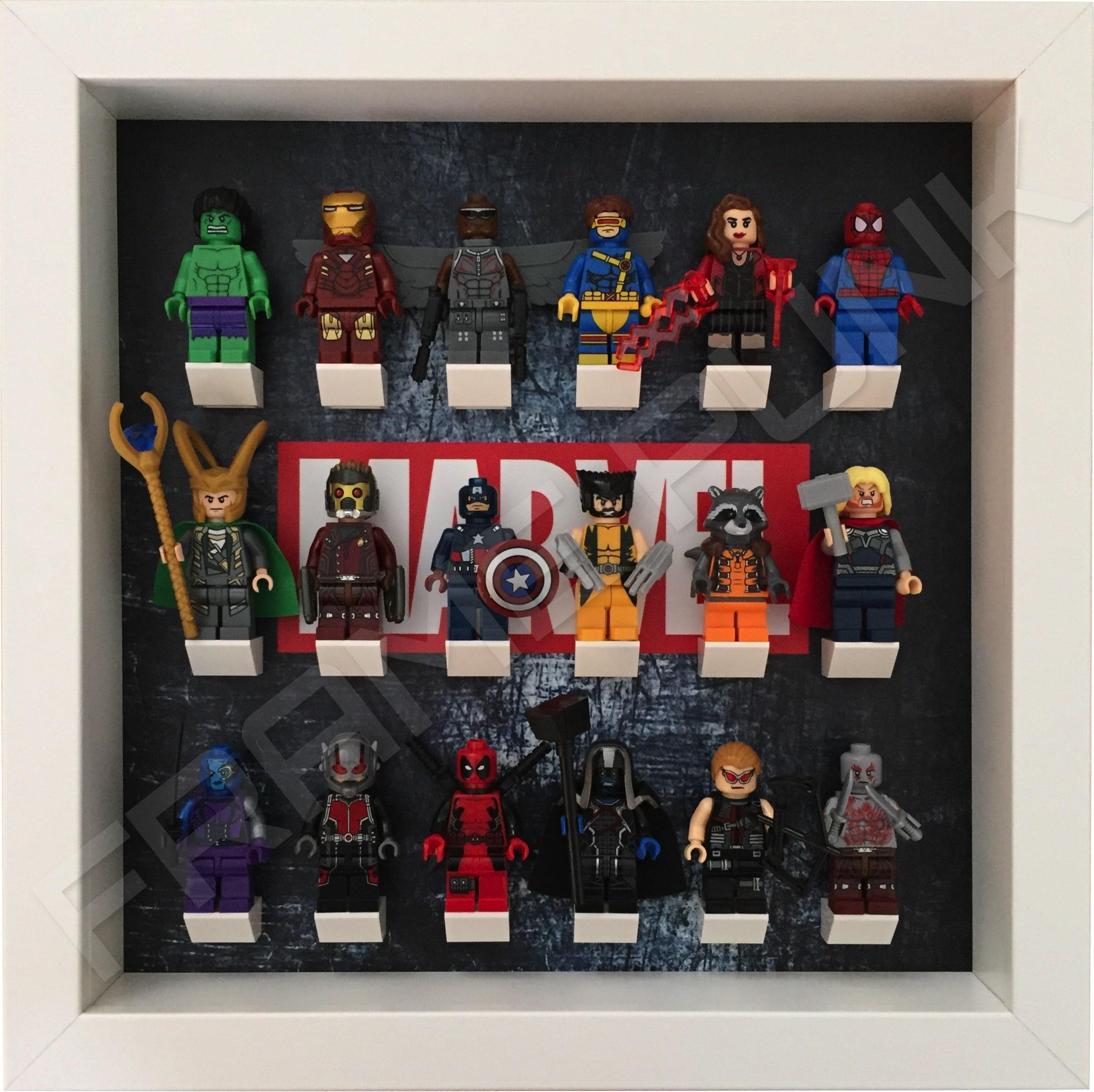 Marvel Steel Lego Minifigure White Frame Frame Punk