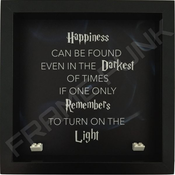 Harry Potter Dumbledore quote lego minifigure display frame