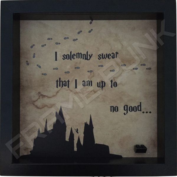 Harry Potter I solemnly swear quote lego minifigure display frame