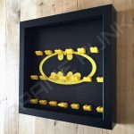 Classic LEGO Batman Movie Minifigures Series display frame (black) Side View