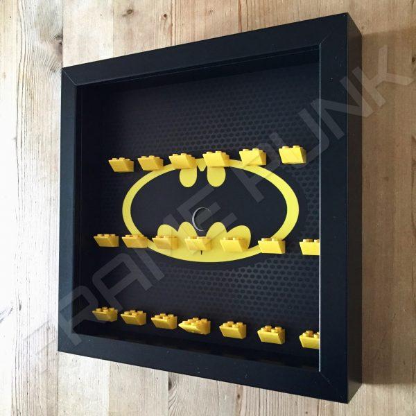 Classic LEGO Batman Movie Minifigures Series display frame (black) Side View