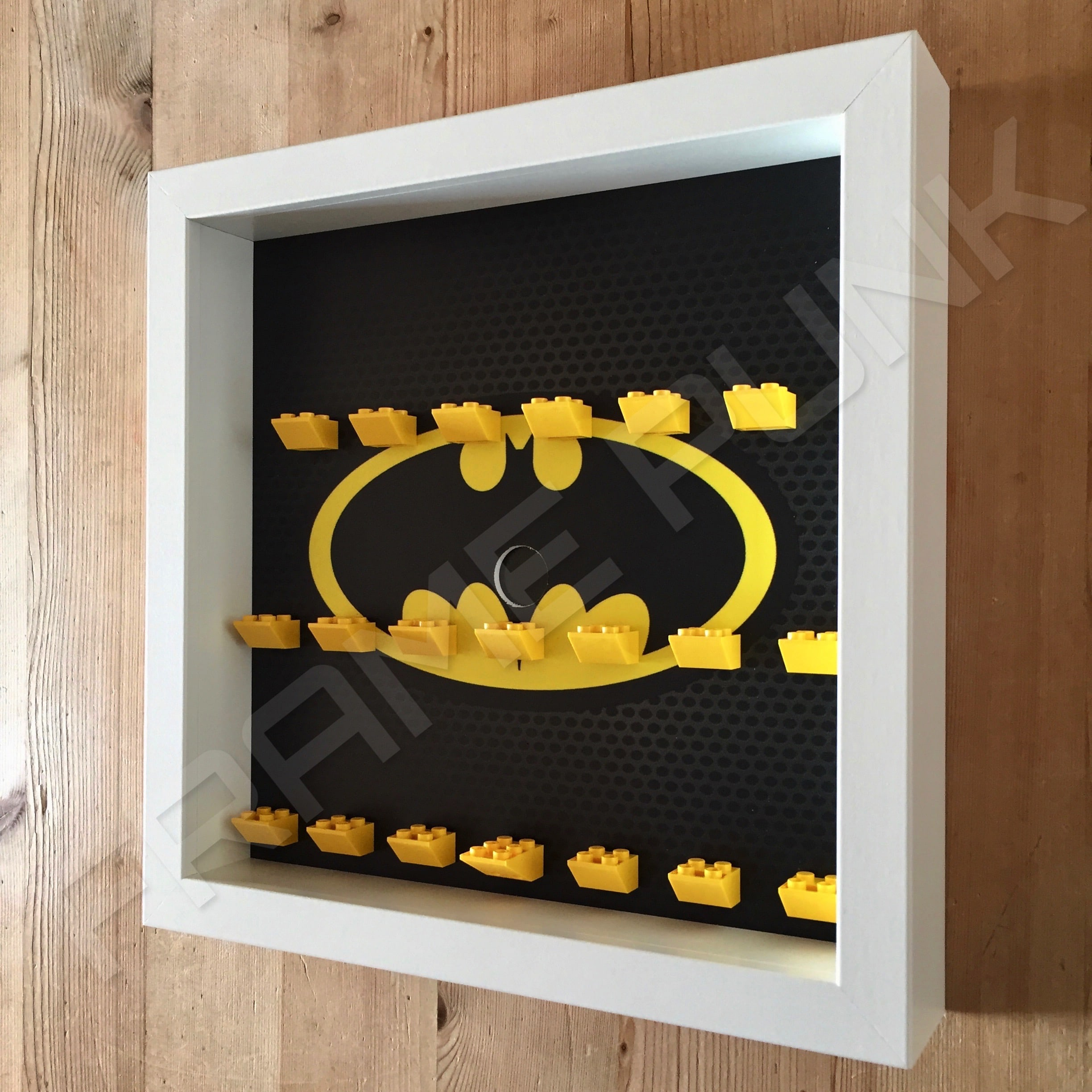 classic lego batman movie minifigures series display frame white side view - Display Frame