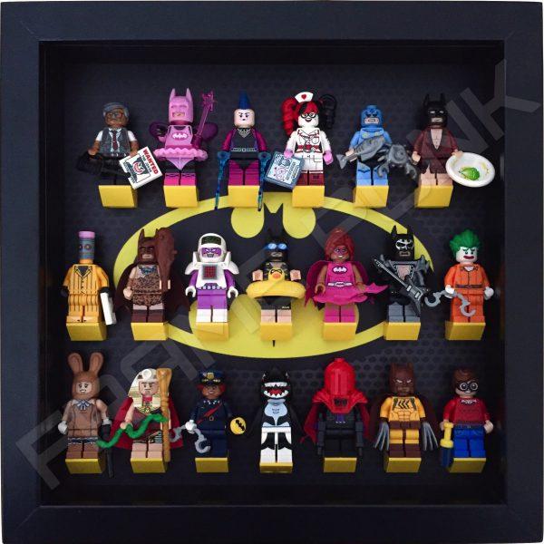 Classic LEGO Batman Movie Minifigures Series display frame with minifigures (Black)