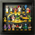 Classic LEGO Batman Movie Minifigures display frame with Series 2 minifigures (Black)