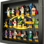 Classic LEGO Batman Movie Minifigures display frame with Series 2 minifigures (Black) Side View