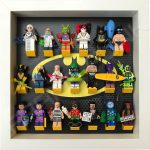 Classic LEGO Batman Movie Minifigures display frame with Series 2 minifigures (White)