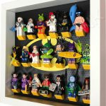 Classic LEGO Batman Movie Minifigures display frame with Series 2 minifigures (White) Side View
