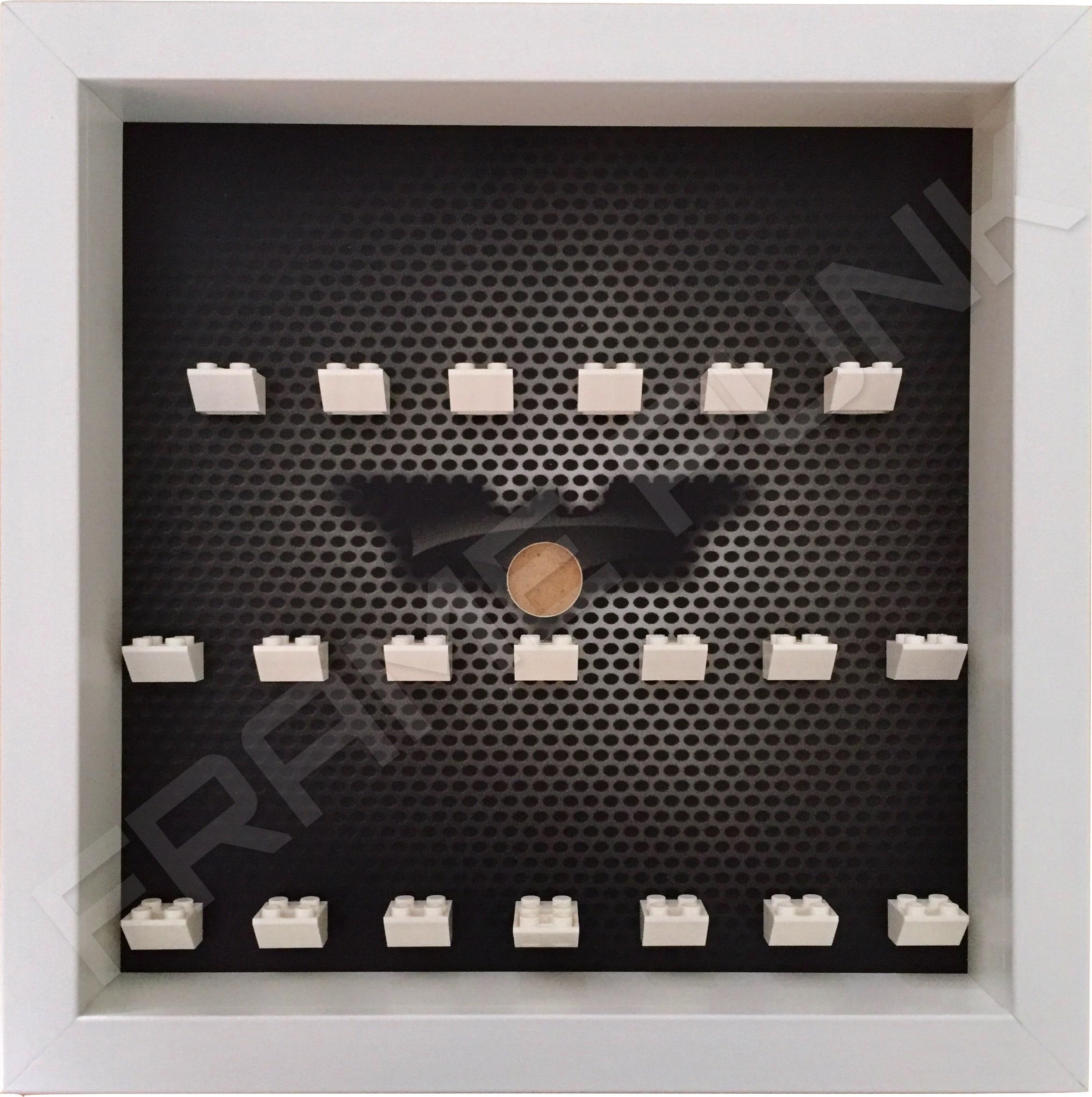 Contemporary LEGO Batman Movie Minifigures Series display frame (white)