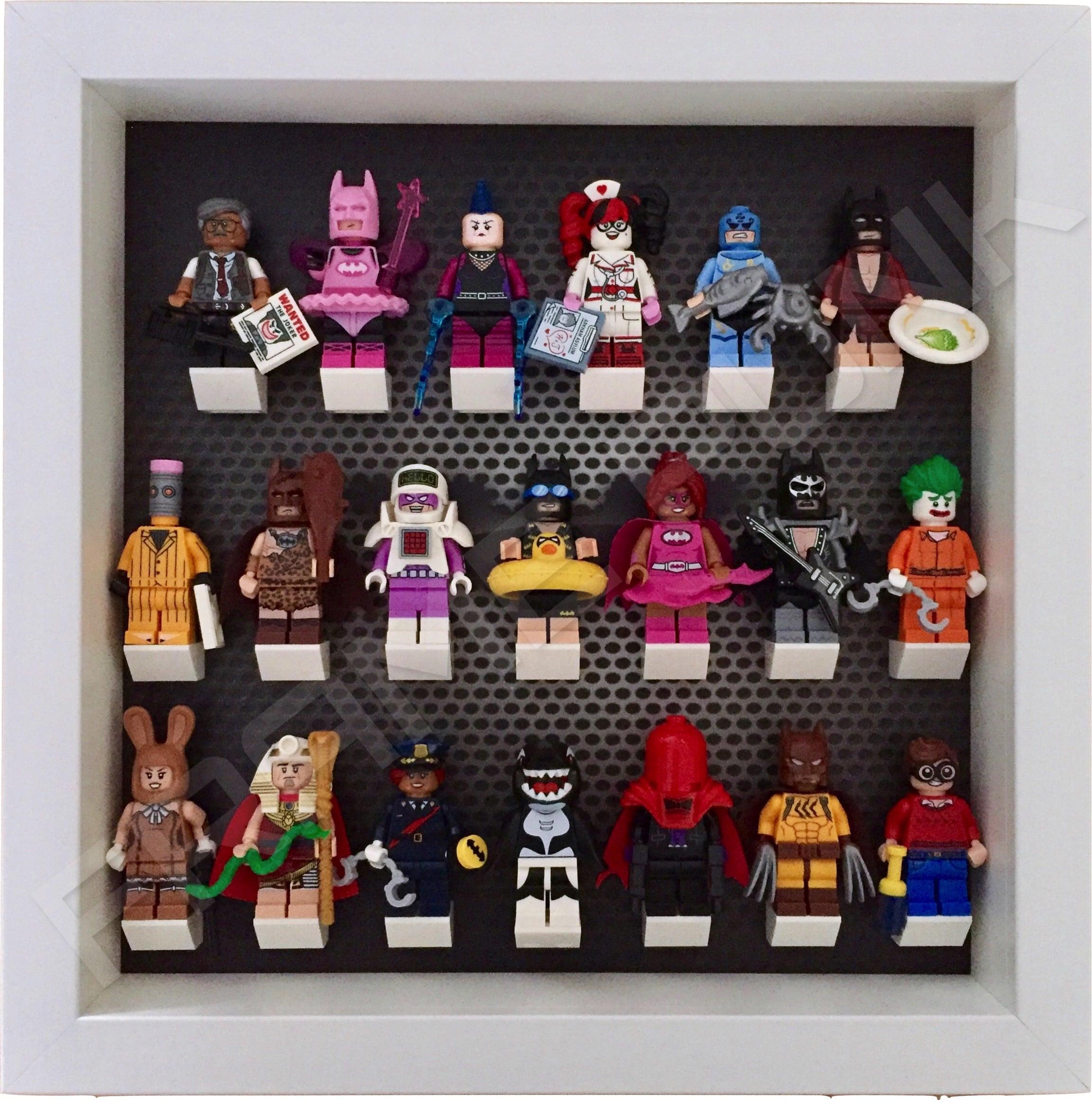 Lego Minifigure Display Case Frame for Lego Batman Movie Series 1 /& 2 Minifigs
