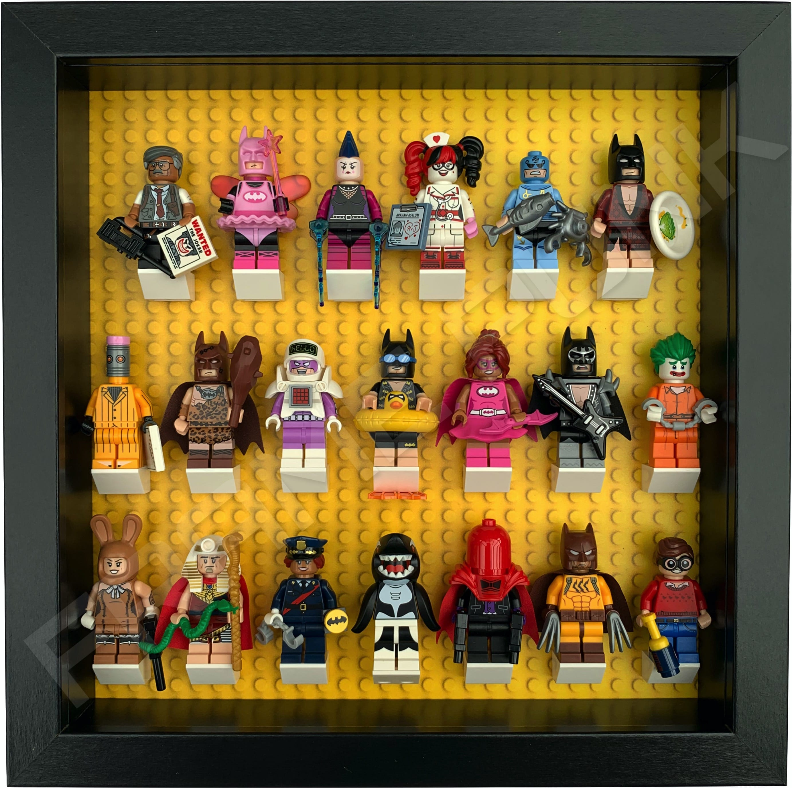 Display Case Frame for Lego Batman Movie Series 1 or 2 Minifigures figures