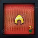 LEGO Aquaman Minifigure display frame with minifigure
