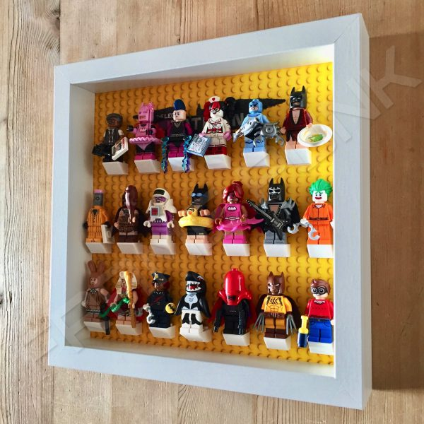 LEGO Batman Movie Minifigures Series display frame with minifigures (White) Side View