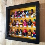 LEGO Batman Movie Minifigures Series display frame with minifigures (Black) side view