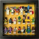 LEGO Batman Movie Minifigures display frame with Series 2 minifigures