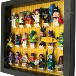 LEGO Batman Movie Minifigures display frame with Series 2 minifigures Side View