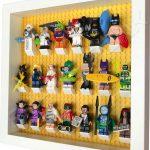LEGO Batman Movie Minifigures display frame with Series 2 minifigures (White) Side View