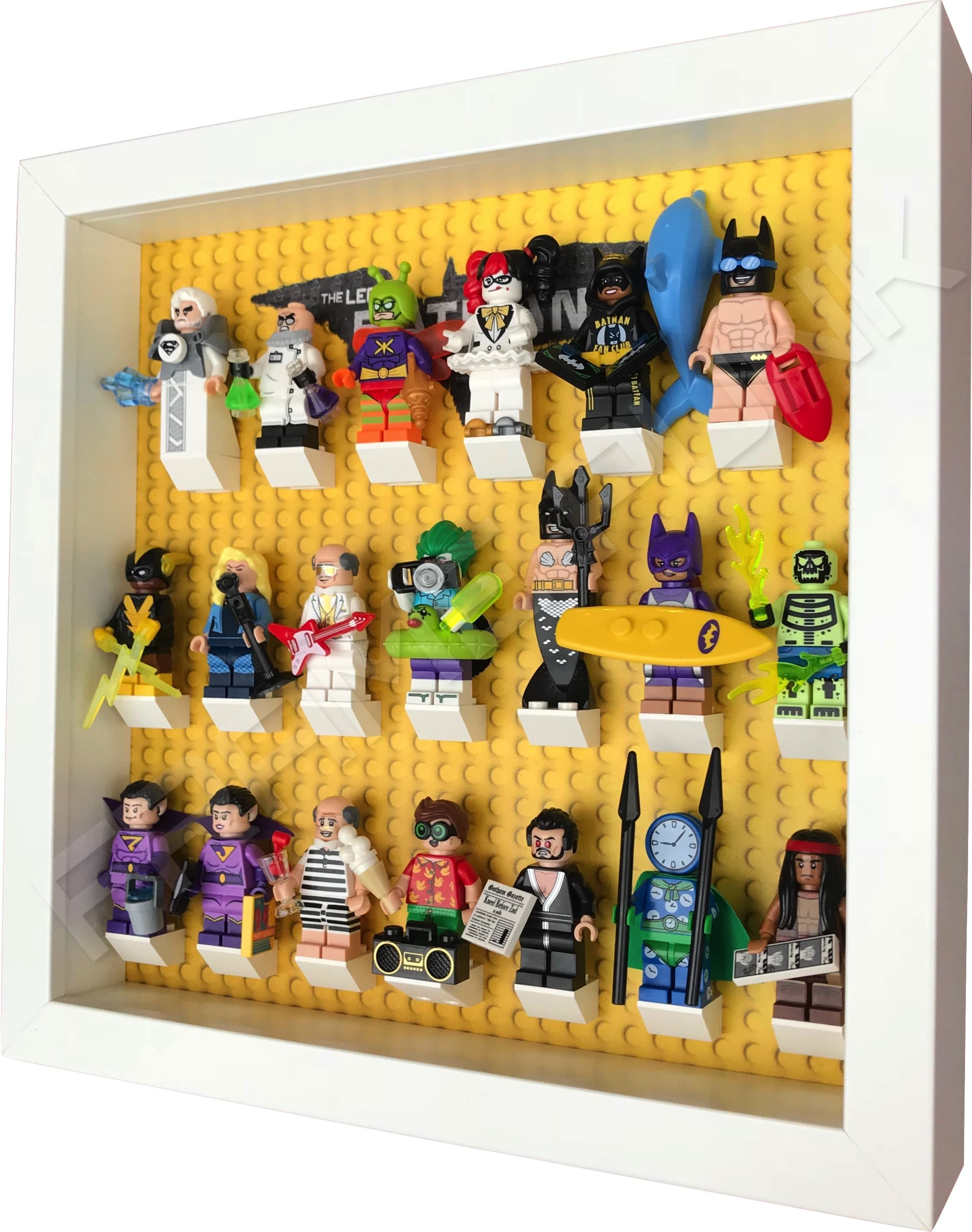 LEGO Batman Movie Minifig Display Frame (White) - Frame Punk