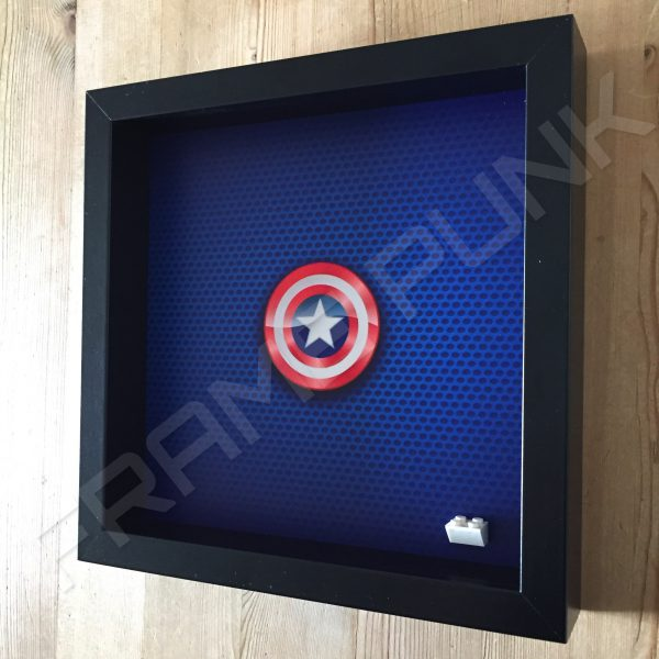 LEGO Captain America Minifigure display frame Side View