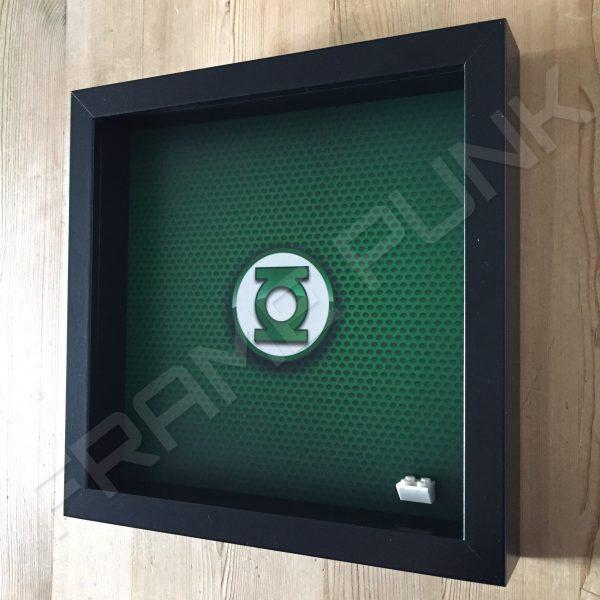 LEGO Green Lantern Minifigure display frame Side View