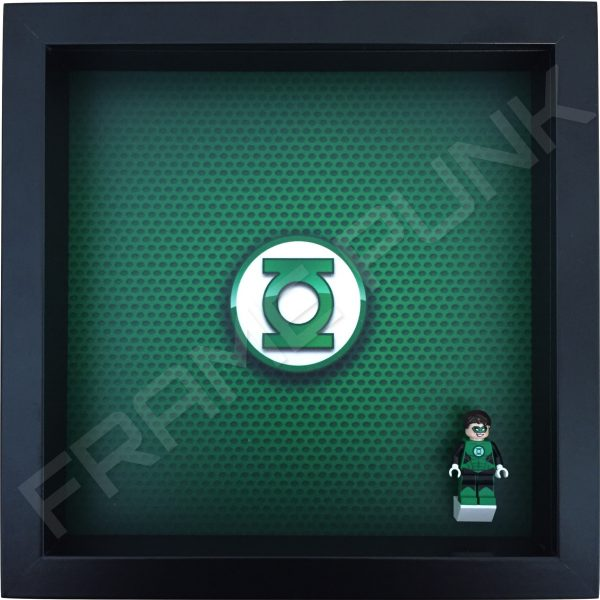 LEGO Green Lantern Minifigure display frame with minifigure