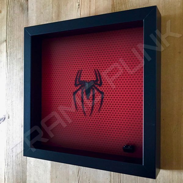 LEGO Spider-Man Minifigure display frame Side View