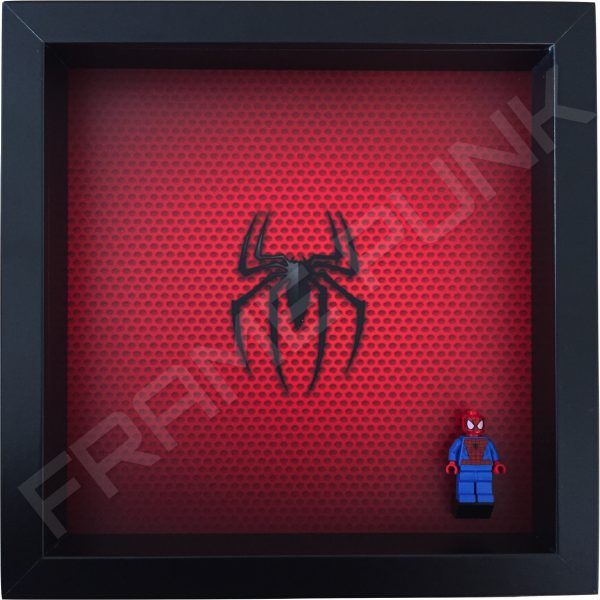 LEGO Spider-Man Minifigure display frame with minifigure