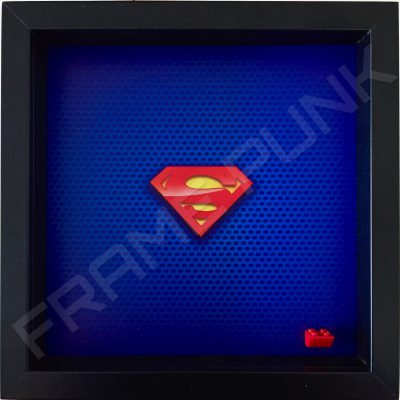 LEGO Superman Minifigure display frame