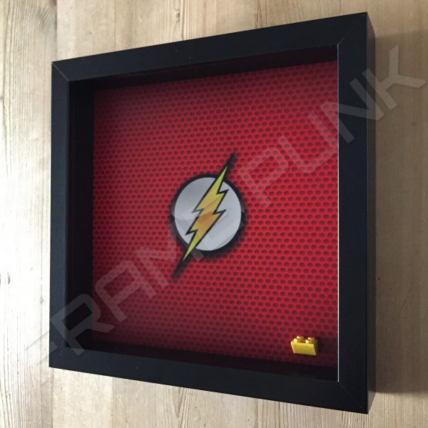 LEGO The Flash Minifigure display frame Side View